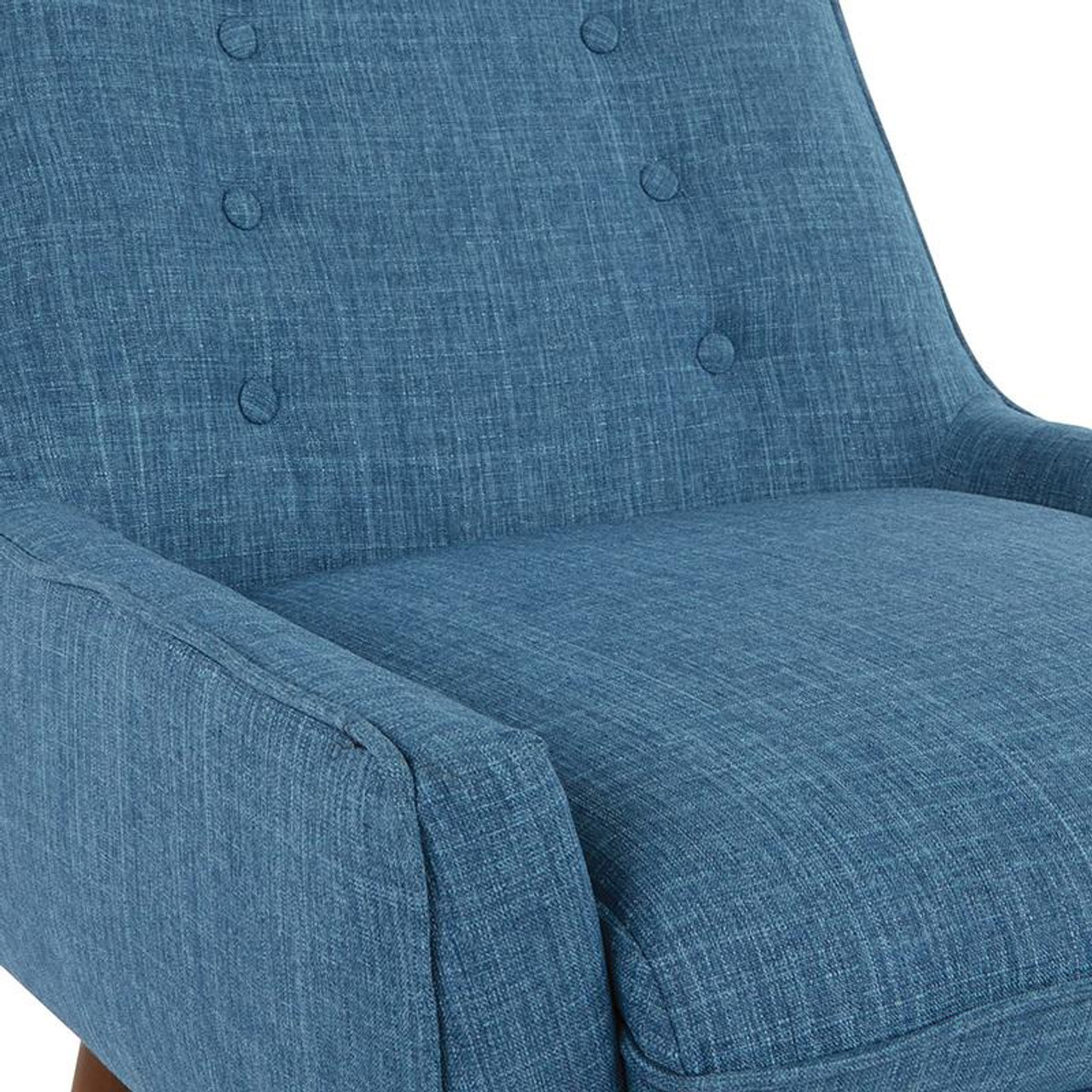 Office Star Rhodes Chair In Blue Fabric With Coffee Legs Rhd51 M21