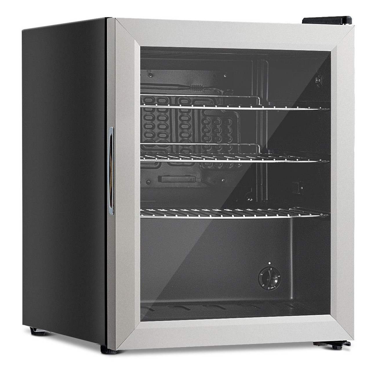 52 Can Beverage Refrigerator Cooler With Glass Door Stainless Steel Ep23752 By Cw