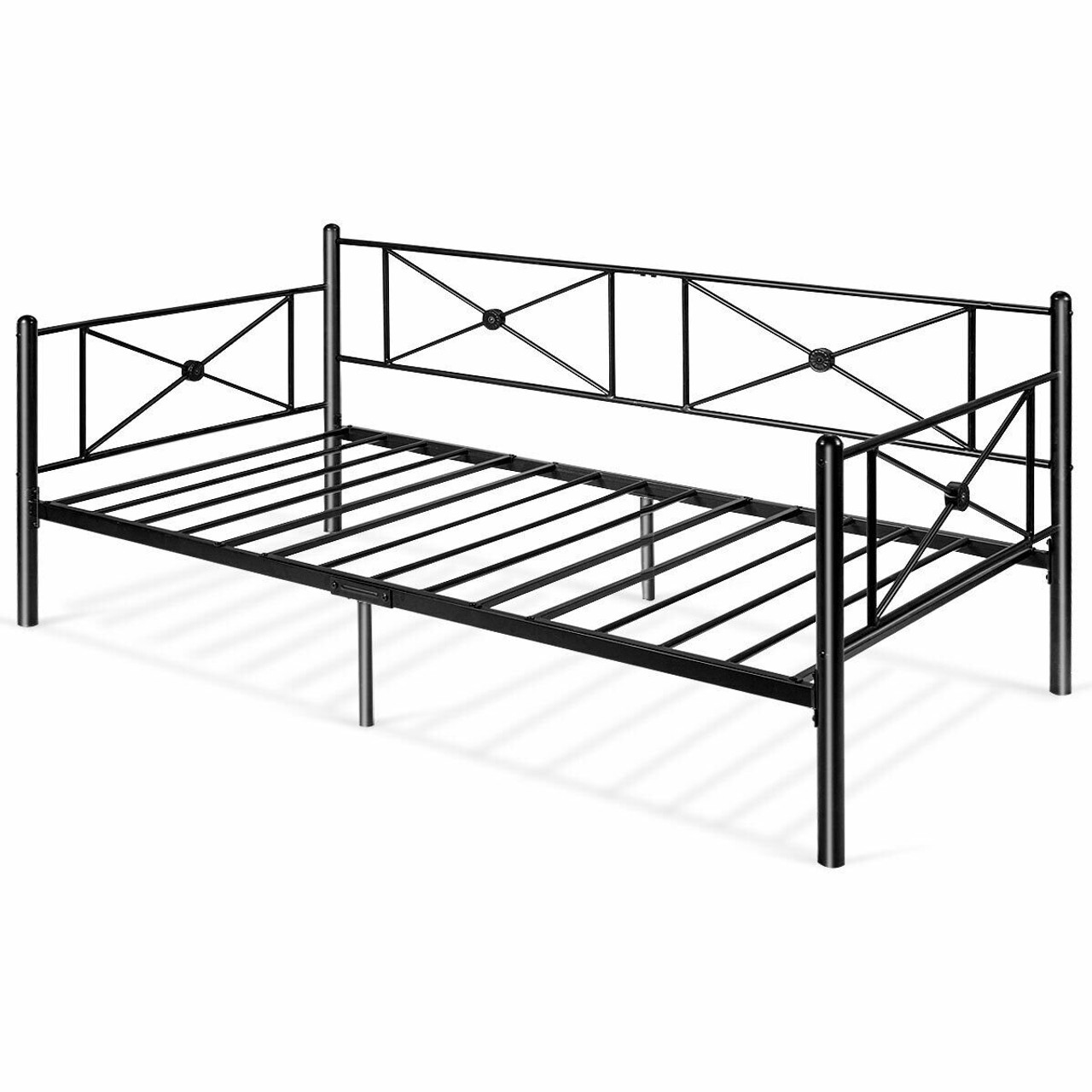 Metal Daybed Twin Bed Frame Stable Steel Slats Bed Sofa Hw61328 By Cw