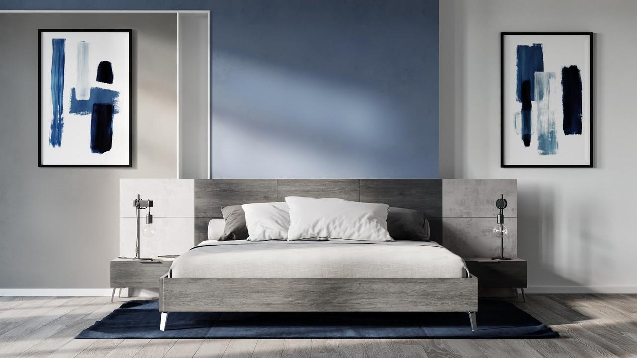 Vig Furniture Vgacbronx Bed Nova Domus Bronx Italian Modern Faux Concrete Grey Bed