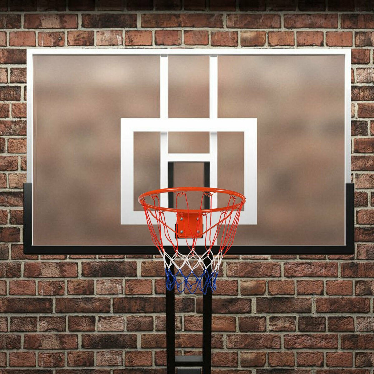 Basketball Hoop Net Indoor and Outdoor All Weather Basketball Ring with Mounting Screws