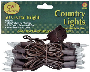 50 MLT652 Green Cord Country Crafts Teeny Lights