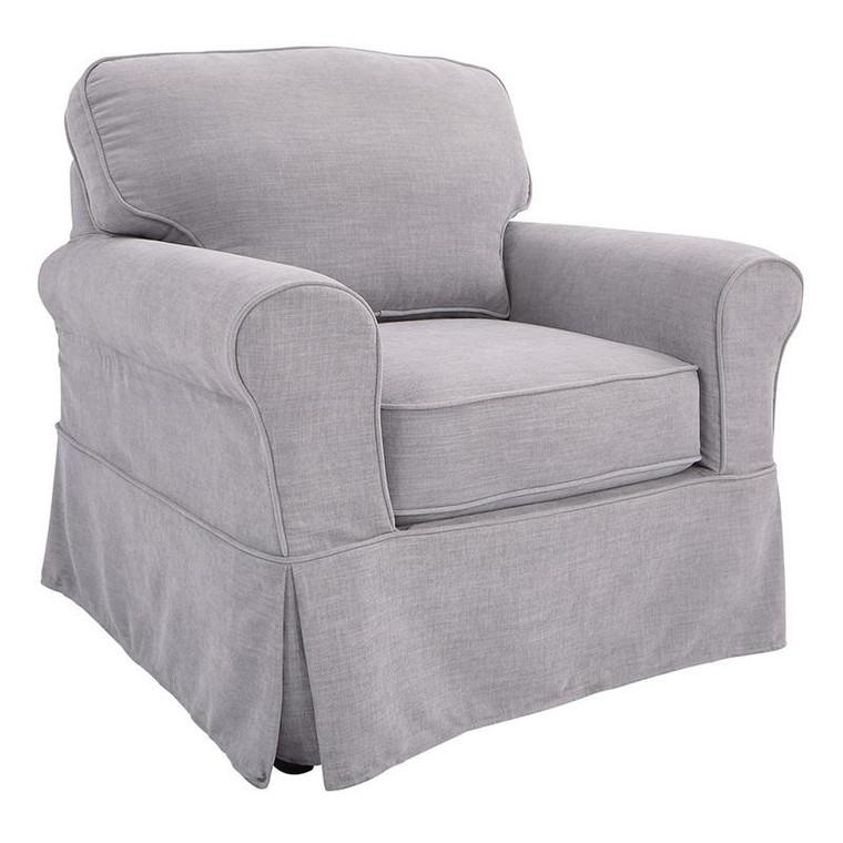 Office Star Ashton Chair With Fog Slip Cover ASN51-S67