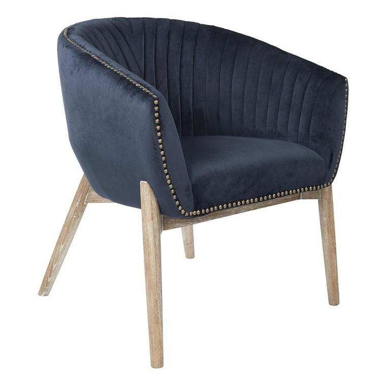 Office Star Girona Accent Chair In Midnight Blue Fabric Asm BP-GNAAC-PJ633