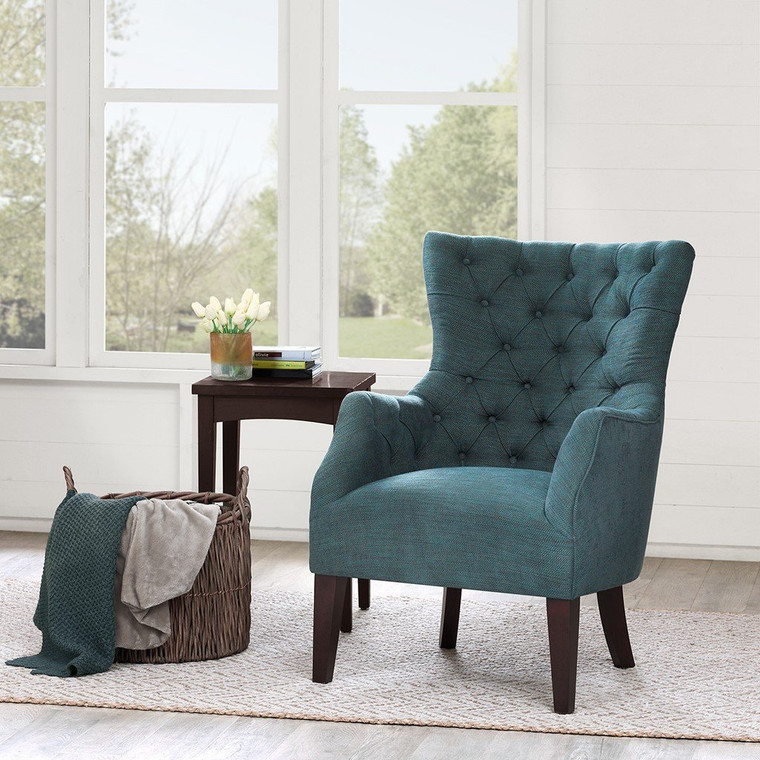 Madison Park Hannah Button Tufted Wing Chair FPF18-0403 By Olliix
