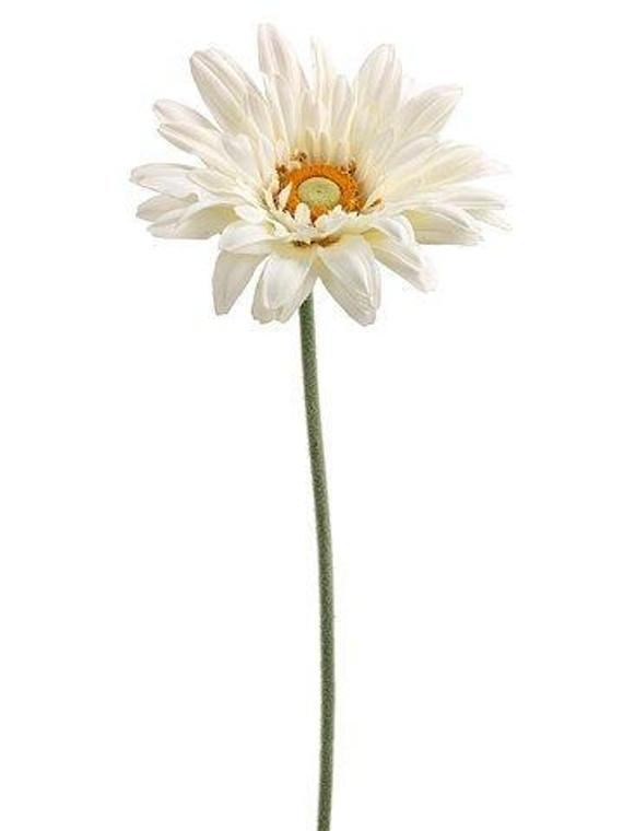 "27"" Royal Gerbera Daisy Spray White 6 Pieces ZTD822-WH"