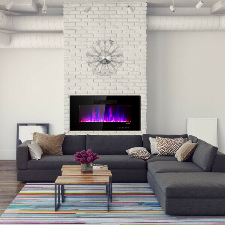 """Recessed Wall Mounted Standing Electric Heater Electric Fireplace-36"""" EP23625"""