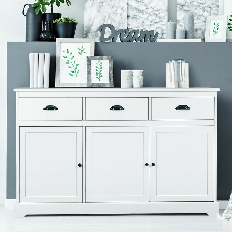 3 Drawers Console Table Sideboard Buffet Cabinet HW61008+