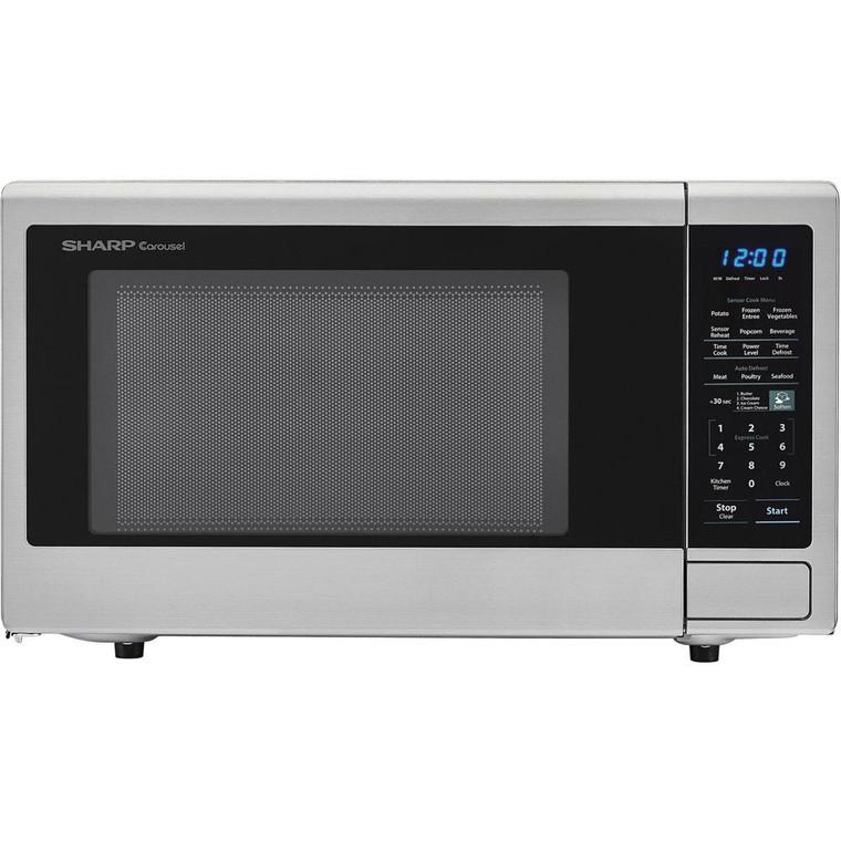 1.8 CF Microwave, 1100W, Sensor Cooking, Blue LED Display