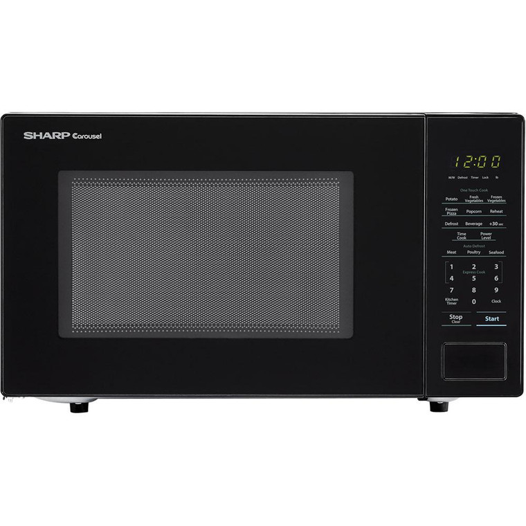 """1.1 Cu Ft 1000W Touch Microwave, 11.25"""" Turntable, Bezel-Less Design"""