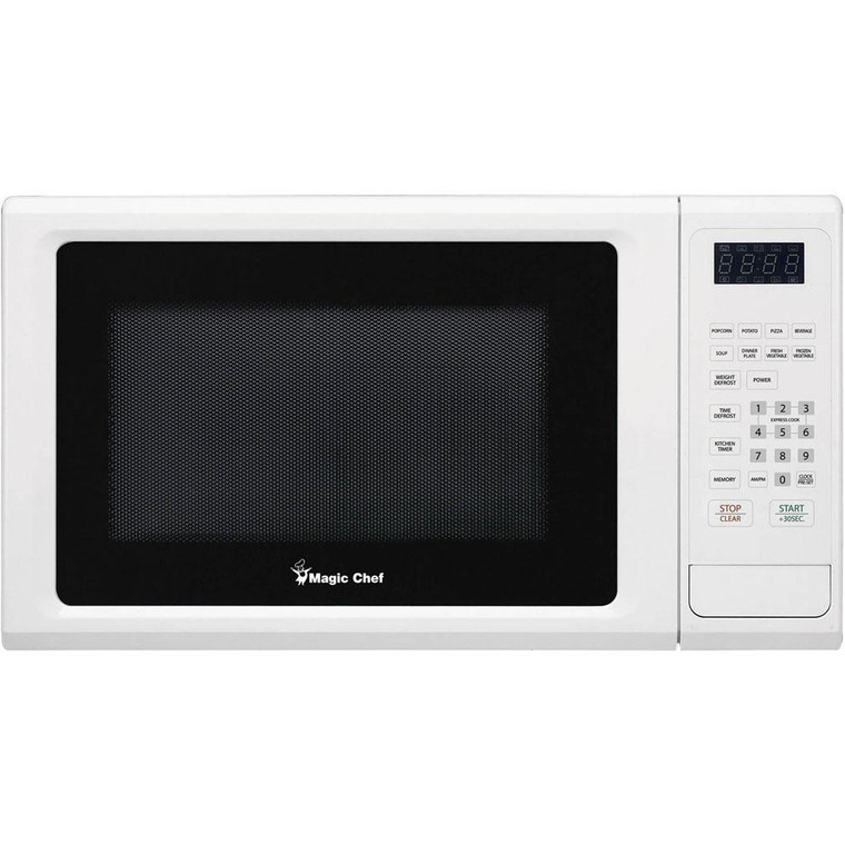 Magic Chef Microwave Oven 1.1 Cu Ft Countertop Digital Touch Mcm1110W