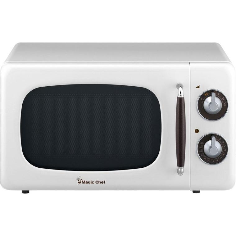 Magic Chef 0.7 Cu Ft Retro Microwave Oven Countertop Mcd770Cw