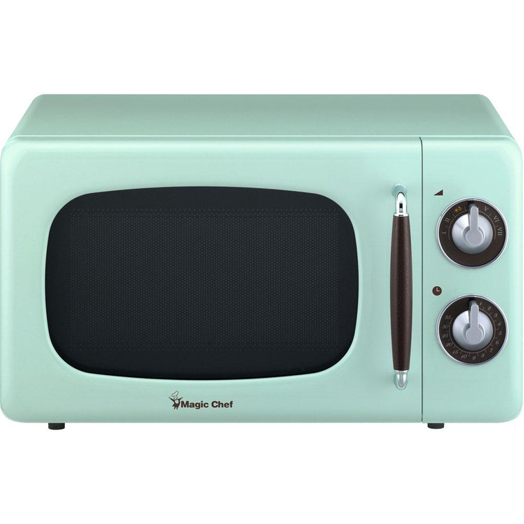 Magic Chef 0.7 Cu Ft Retro Microwave Oven Countertop Mcd770Cm