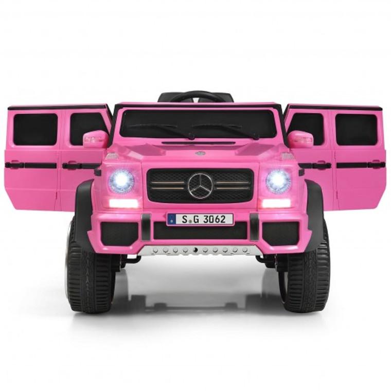 12V Licensed Mercedes-Benz Kids Ride On Car-Pink TY328021PI