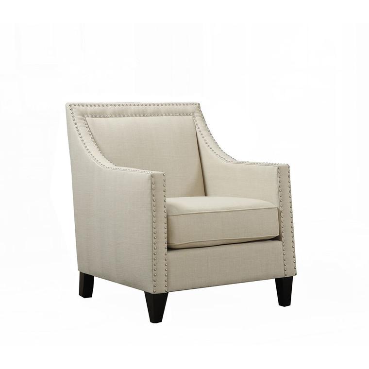 """Bridgehampton Accent Chair With Nail Trim, 29""""Wx31""""Dx35.5""""H 981704-NAT"""