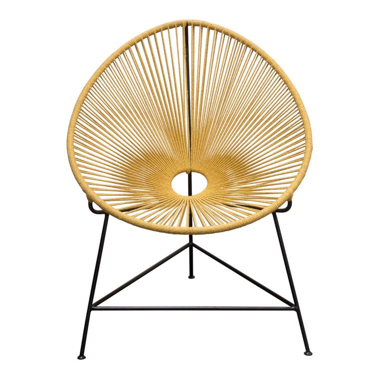 Sativa 2-Pack Accent Chair In Orange Rope W/ Black Iron Rod Frame SATIVACHOR2PK