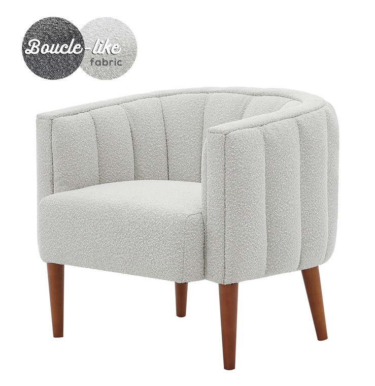 Cruz Fabric Accent Arm Chair Wooden Legs 1900176-563 By New Pacific Direct
