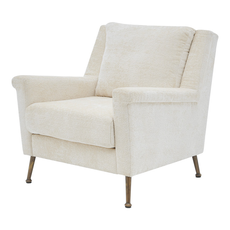 Winston Fabric Accent Arm Chair Gold Legs 1250025-567 By New Pacific Direct