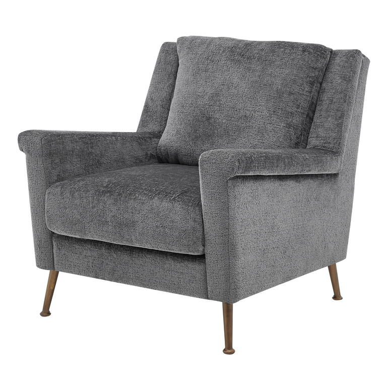 Winston Fabric Accent Arm Chair Gold Legs 1250025-568 By New Pacific Direct