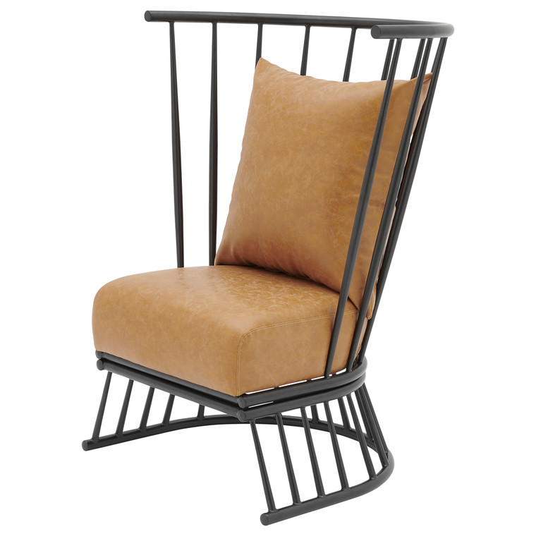 Jupiter Pu Metal Accent Chair 9300119-309 By New Pacific Direct