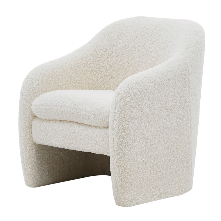 Zella Faux Shearling Fabric Accent Arm Chair 1900174-560 By New Pacific Direct
