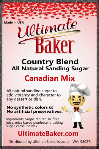 Ultimate Baker Country Blend Sanding Sugar Canada Mix (1x8oz