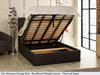Lily gas lift ottoman bed shown in charcoal linen fabric