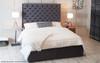 Esupasaver Christina Ottoman Bed Charcoal Soft Velvet
