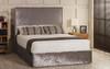 Esupasaver Ava ottoman bed silver crush velvet