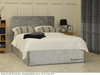 Berlin gas lift ottoman bed silver crush velvet