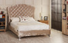 Esupasaver Stirling upholstered bed frame mink crush velvet