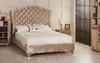 Esupasaver Stirling upholstered bed frame mink crush velvet