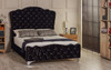 Esupasaver Victoria upholstered bed frame black crush velvet