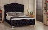 Esupasaver Victoria upholstered bed frame black crush velvet