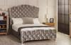 Esupasaver Victoria upholstered bed frame silver crush velvet