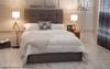 Esupasaver Cologne ottoman bed silver crush velvet