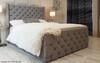Cambridge Ottoman Wing Bed Grey Linen
