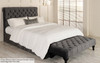 Grace Ottoman Bed Charcoal Smooth Velvet & Cambrige Bed End Seat