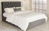 Grace Ottoman Bed Charcoal Smooth Velvet