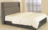 Freya Gas Lift Ottoman Wing Bed Charcoal Smooth Velvet