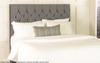 Eloise Floor Standing Headboard Charcoal Smooth Velvet