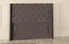 Chelsea Winged Chesterfield Upholstered Floor Standing Headboard  Charcoal Smooth Velvet