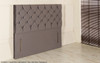 Christina Chesterfield Design Upholstered Floor Standing Headboard  Charcoal Smooth Velvet