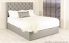 Willow Gas Lift Ottoman Bed Grey Tweed Fabric