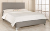 Malmo Upholstered Bed Frame Grey Tweed Fabric