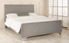 Traso Upholstered Bed Grey Tweed Fabric