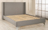 Skara Upholstered Bed Grey Tweed Fabric