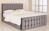 Esupasaver Brooklyn gas lift storage bed Charcoal Soft Velvet