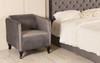 Brooklyn Tub Chair Charcoal Smooth Velvet Wooden Feet