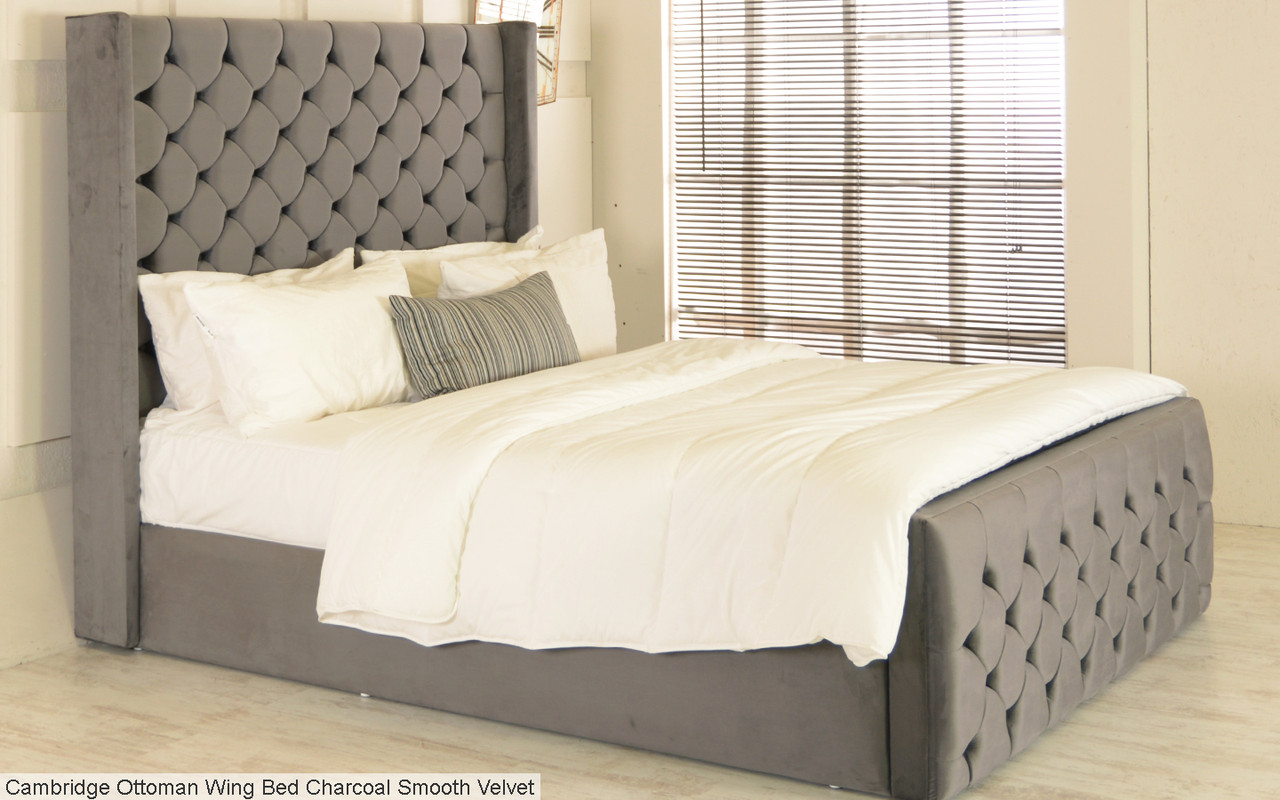 Cambridge Gas Lift Ottoman Wing Storage Bed Frame